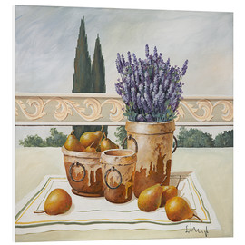 PVC-taulu  Still life with lavender - Franz Heigl