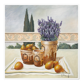 Juliste Still life with lavender