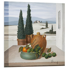 PVC-taulu  Still life with limes - Franz Heigl