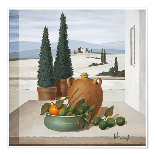 Juliste Still life with limes
