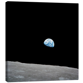 Canvas-taulu  Earth from the Moon
