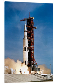 Akryylilasitaulu  Apollo 11 taking off from Kennedy Space Center
