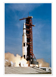 Juliste  Apollo 11 taking off from Kennedy Space Center