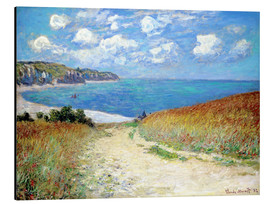 Alumiinitaulu  Path through the Wheat at Pourville - Claude Monet