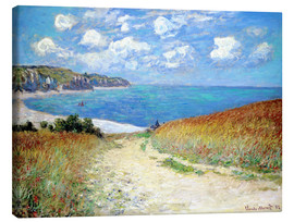 Canvas-taulu  Path through the Wheat at Pourville - Claude Monet