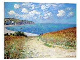 PVC-taulu  Path through the Wheat at Pourville - Claude Monet