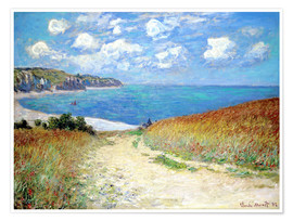 Juliste  Path through the Wheat at Pourville - Claude Monet