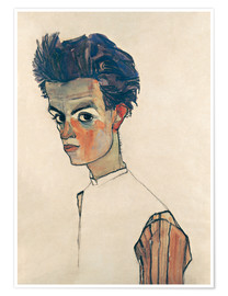 Juliste Egon Schiele, Self-portrait
