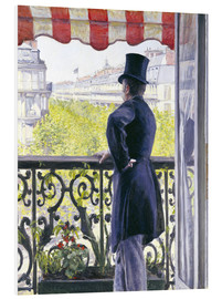 PVC-taulu  Man on a balcony - Gustave Caillebotte