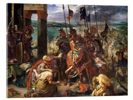 Akryylilasitaulu  The conquest of Constantinople by the crusaders - Eugene Delacroix