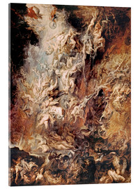 Akryylilasitaulu  The Descent into Hell of the Damned - Peter Paul Rubens