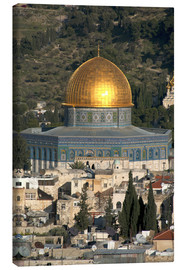 Canvas-taulu  Jerusalem and the Dome of the Rock - David Noyes