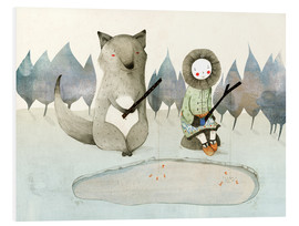 PVC-taulu  The little Inuit girl and the wolf - Judith Loske
