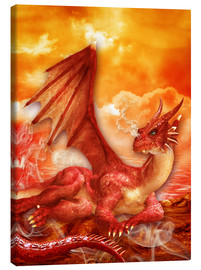 Canvas-taulu  Red Power Dragon - Dolphins DreamDesign