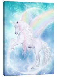 Canvas-taulu  Rainbow Unicorn Pegasus - Dolphins DreamDesign