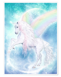 Juliste  Rainbow Unicorn Pegasus - Dolphins DreamDesign