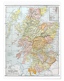Juliste  Map of Scotland