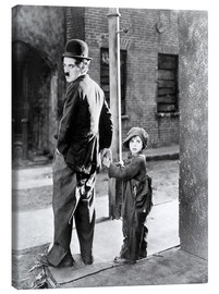 Canvas-taulu  The Kid, Charlie Chaplin, Jackie Coogan, 1921