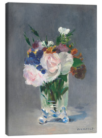 Canvas-taulu  Flowers in a Crystal Vase - Edouard Manet