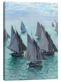 Canvas-taulu  Fishing boats in calm weather - Claude Monet