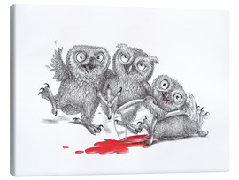 Canvas-taulu  Party - Tipsy Owls - Stefan Kahlhammer