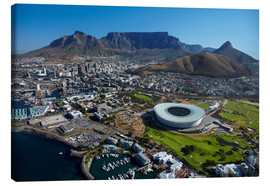 Canvas-taulu  Cape Town Stadium and Table Mountain - David Wall