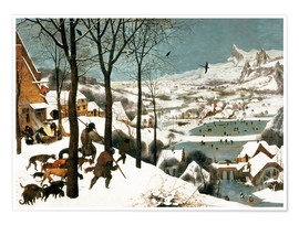 Juliste  Hunters in the snow - Pieter Brueghel d.Ä.