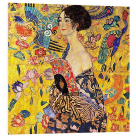 PVC-taulu  Lady with a Fan - Gustav Klimt