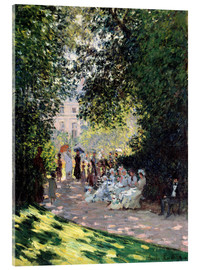 Akryylilasitaulu  In the Park Monceau - Claude Monet