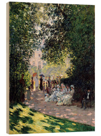 Puutaulu  In the Park Monceau - Claude Monet
