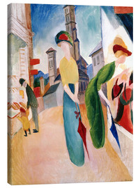 Canvas-taulu  In front of hat shop - August Macke