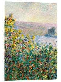 Akryylilasitaulu  Flower Beds at Vetheuil - Claude Monet