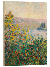 Puutaulu  Flower Beds at Vetheuil - Claude Monet