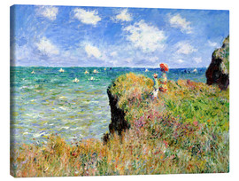 Canvas-taulu  Clifftop walk at Pourville - Claude Monet