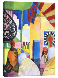 Canvas-taulu  In the Bazar - August Macke