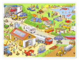 Juliste Car Hidden Object - In the country