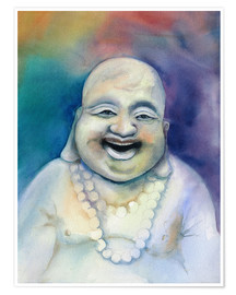 Juliste  Laughing Buddha - Jitka Krause