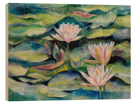 Puutaulu  Lotus flowers - Jitka Krause