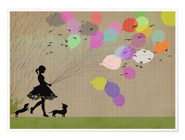 Juliste Girl with balloons