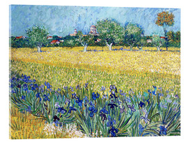 Akryylilasitaulu  View of Arles with irises in the foreground - Vincent van Gogh