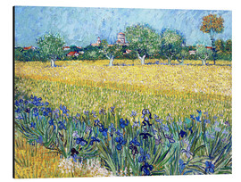 Alumiinitaulu  View of Arles with irises in the foreground - Vincent van Gogh