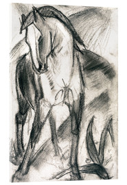 Akryylilasitaulu  Young horse in mountain landscape - Franz Marc