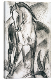 Canvas-taulu  Young horse in mountain landscape - Franz Marc