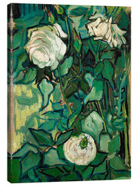 Canvas-taulu  Roses and Beetle - Vincent van Gogh