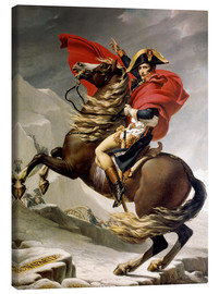 Canvas-taulu  Napoleon crossing the Alps - Jacques-Louis David