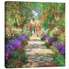 Canvas-taulu  A Pathway in Monet's Garden - Claude Monet
