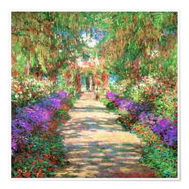 Juliste  A Pathway in Monet's Garden - Claude Monet