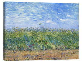 Canvas-taulu  Corn field with poppies and partridge - Vincent van Gogh