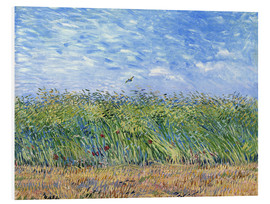 PVC-taulu  Corn field with poppies and partridge - Vincent van Gogh