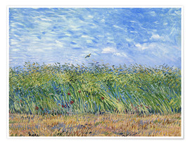 Juliste  Corn field with poppies and partridge - Vincent van Gogh